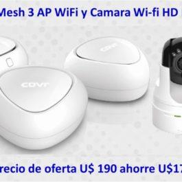 Kit WiFi DLINK Mesh3AP+CAMARA